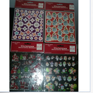 14 New Sheets of Assorted Christmas Stickers